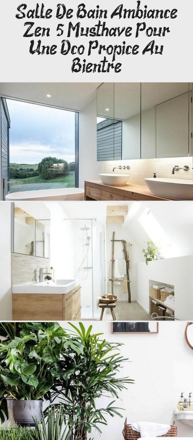 Salle De Bain Ambiance Zen 5 Indispensables Clem Around The Corner Meuble De Salle De Bain Double Lavabo Vasques Blanch In 2020 Bathroom Interior Interior Bathroom