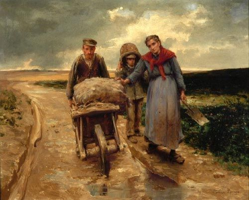 Georges Paul François Laurent Laugée La journée est finie. Collection personnelle. | Peinture