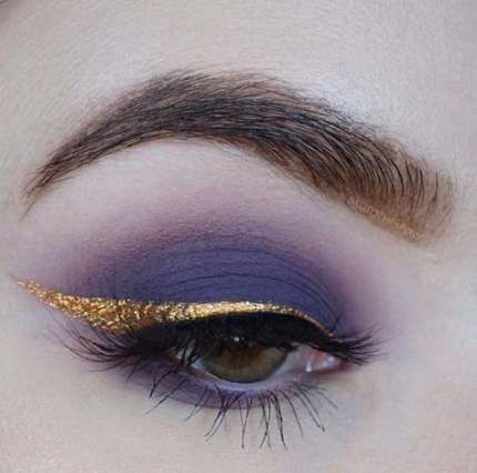 Makeup Ideas Gold Purple 56+ Ideas #makeup