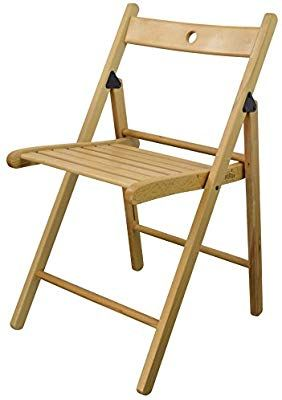 Harbour Housewares Wooden Folding Chair Natural Wood