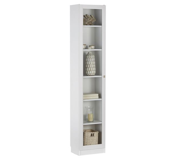 lynx large narrow bookcase with glass door
