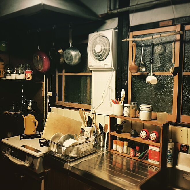 キッチン/古民家/カフェ風/一人暮らし/ナチュラル...などのインテリア実例 - 2016-06-17 22:39:47 | RoomClip(ルームクリップ)