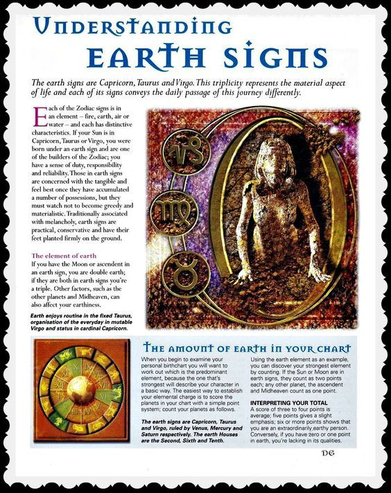 Understanding Earth Signs Elemental Magic Earth Signs Book Of Shadows