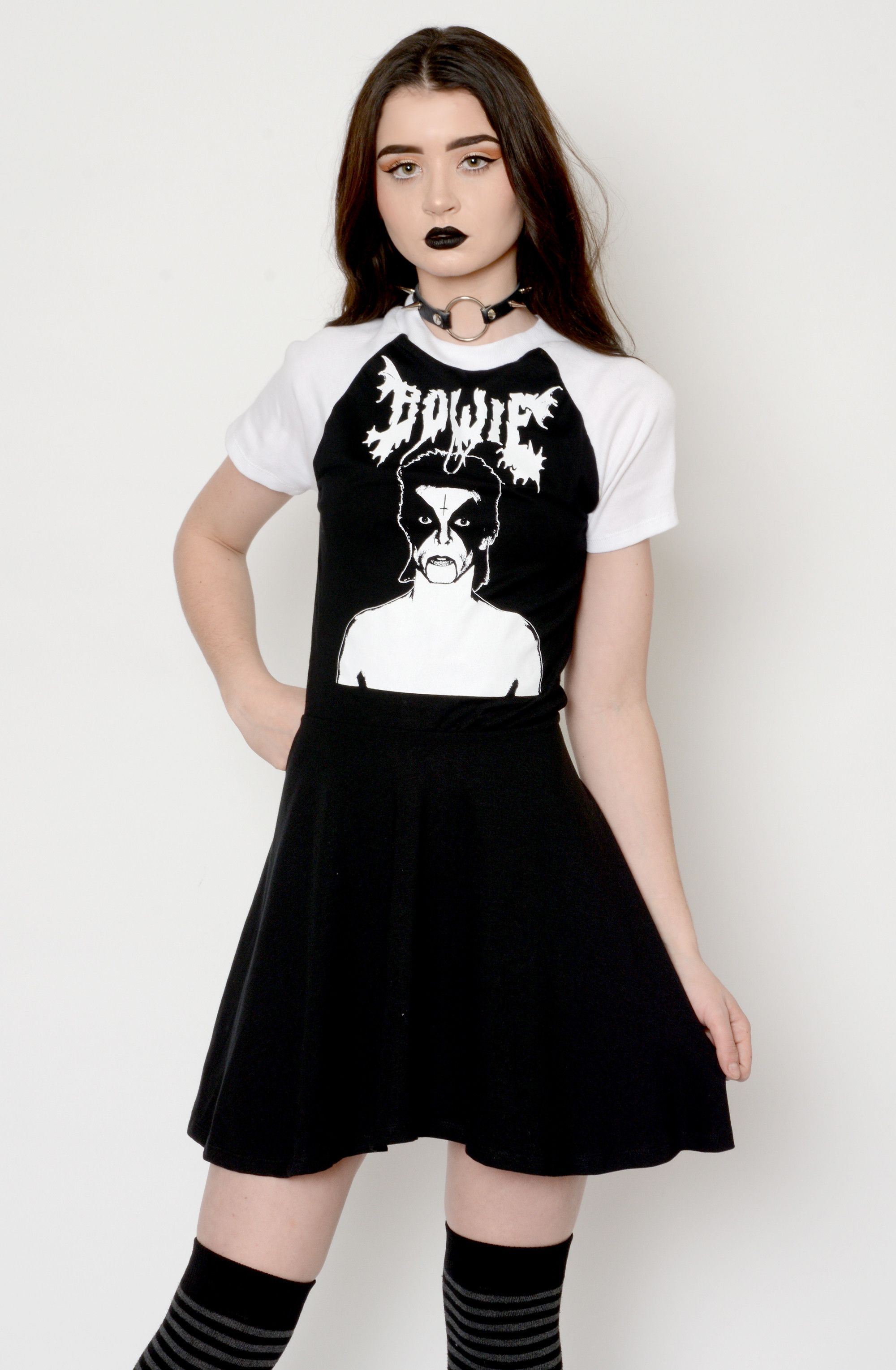 7cf86df020a802 Black Metal Bowie Baby Doll Dress | Products | Babydoll dress, Baby ...