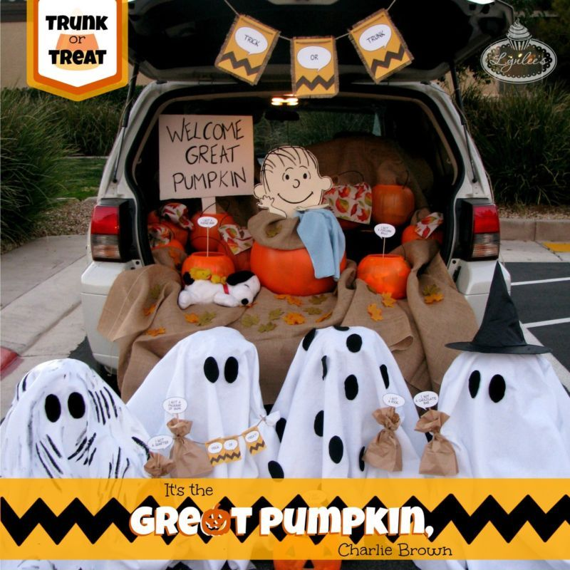 how to decorate for a charlie brown halloween trunk or treat ebay
