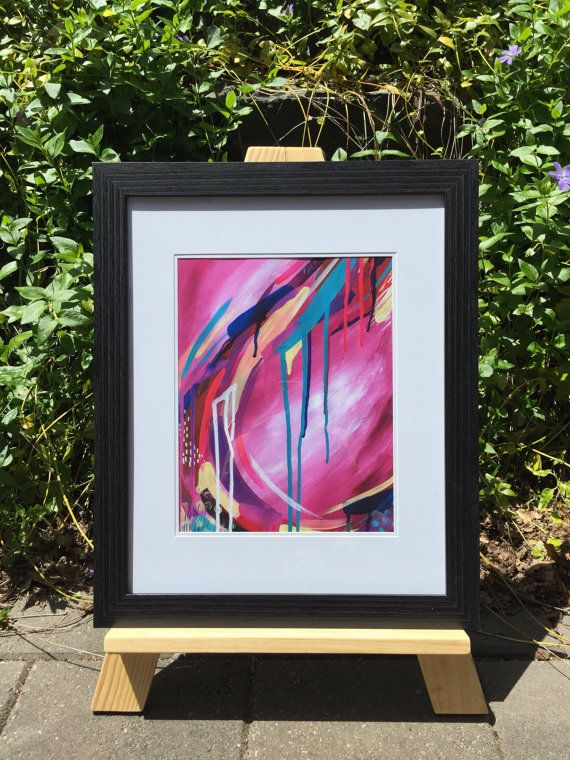 Print Pink Abstract by ArtEmmaJones on Etsy