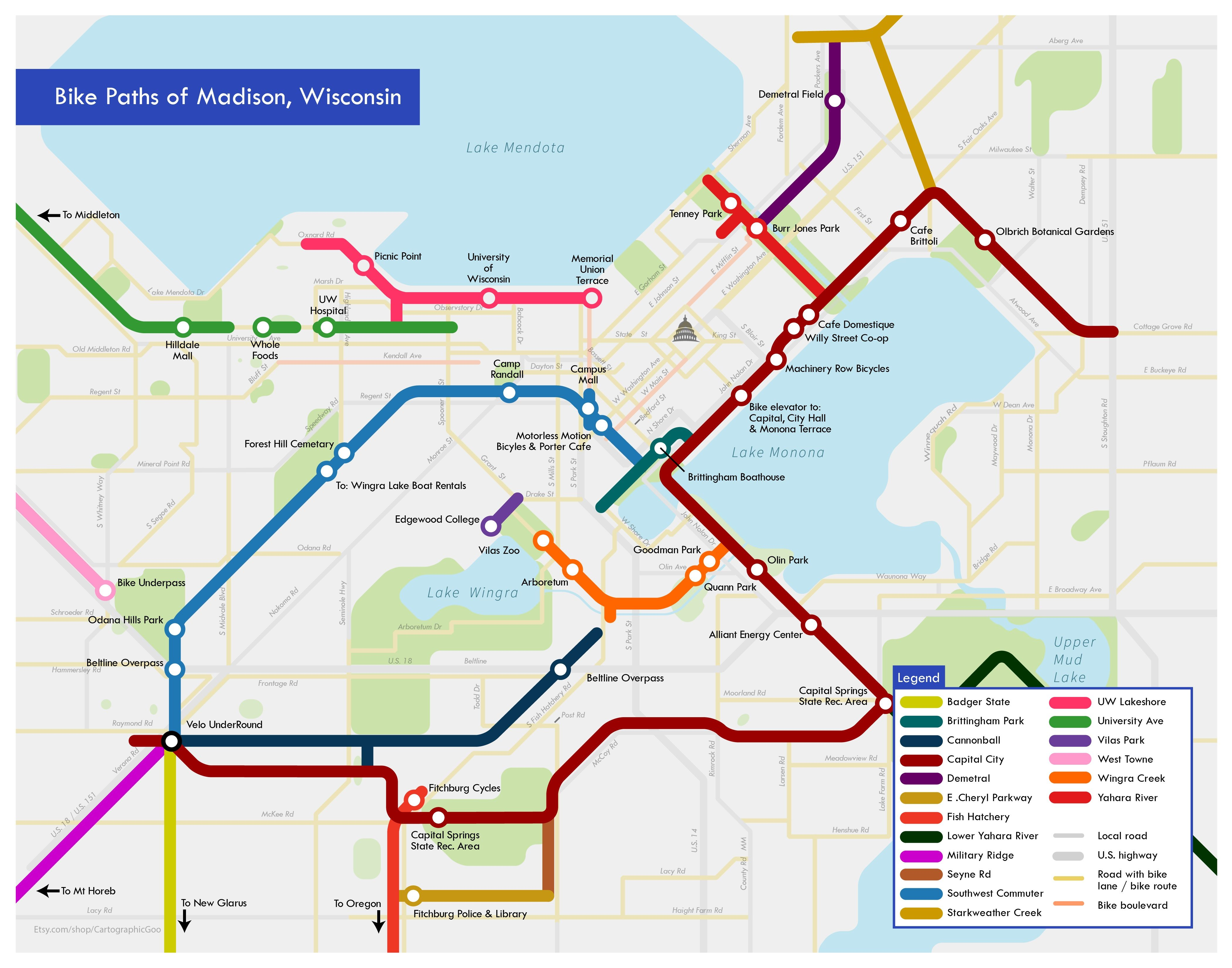 Here S A Map Of All The Bike Friendly Roads And Paths In The Fine