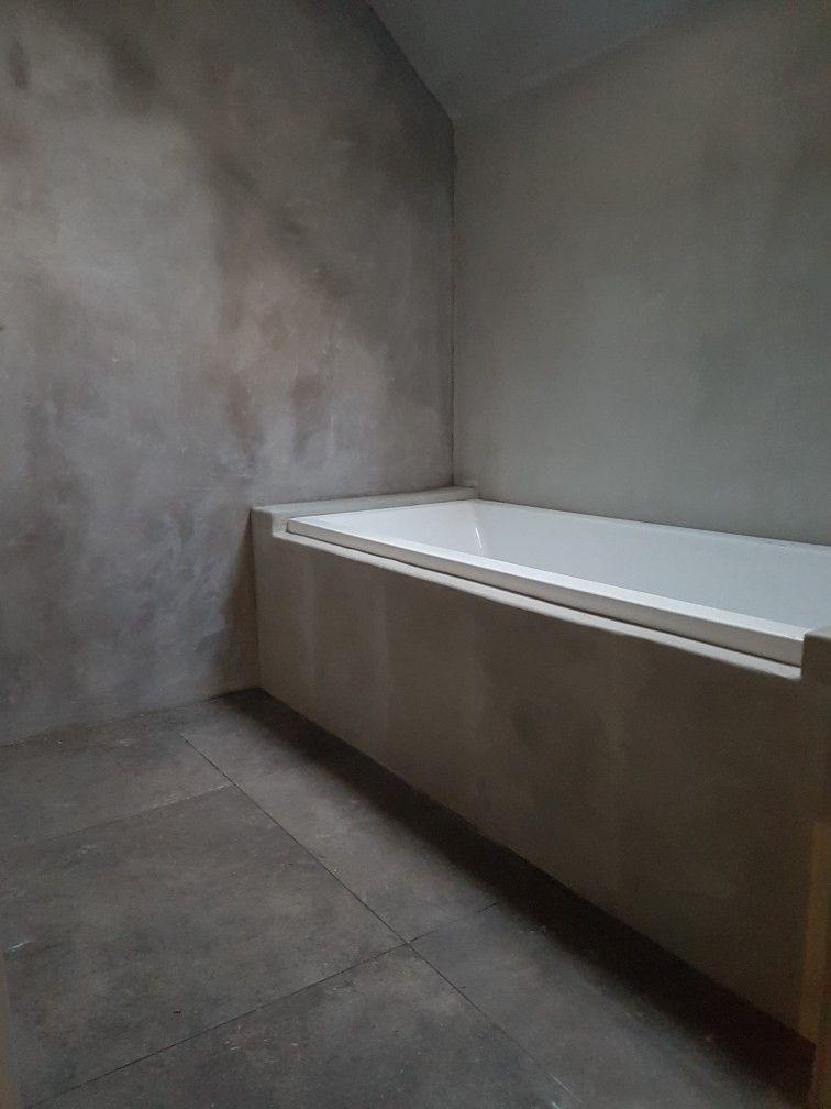 Badkamer tadelakt vloeren totaalbouw en realisatie hamsmade ...