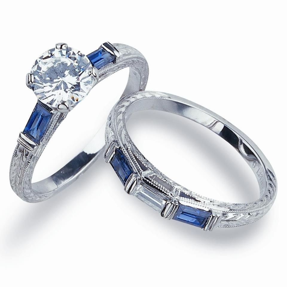 Beautiful Jabel Engagement Ring With Sapphire Baguettes Nice Design