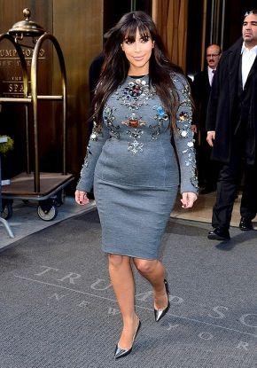 Pregnant Kim in NY