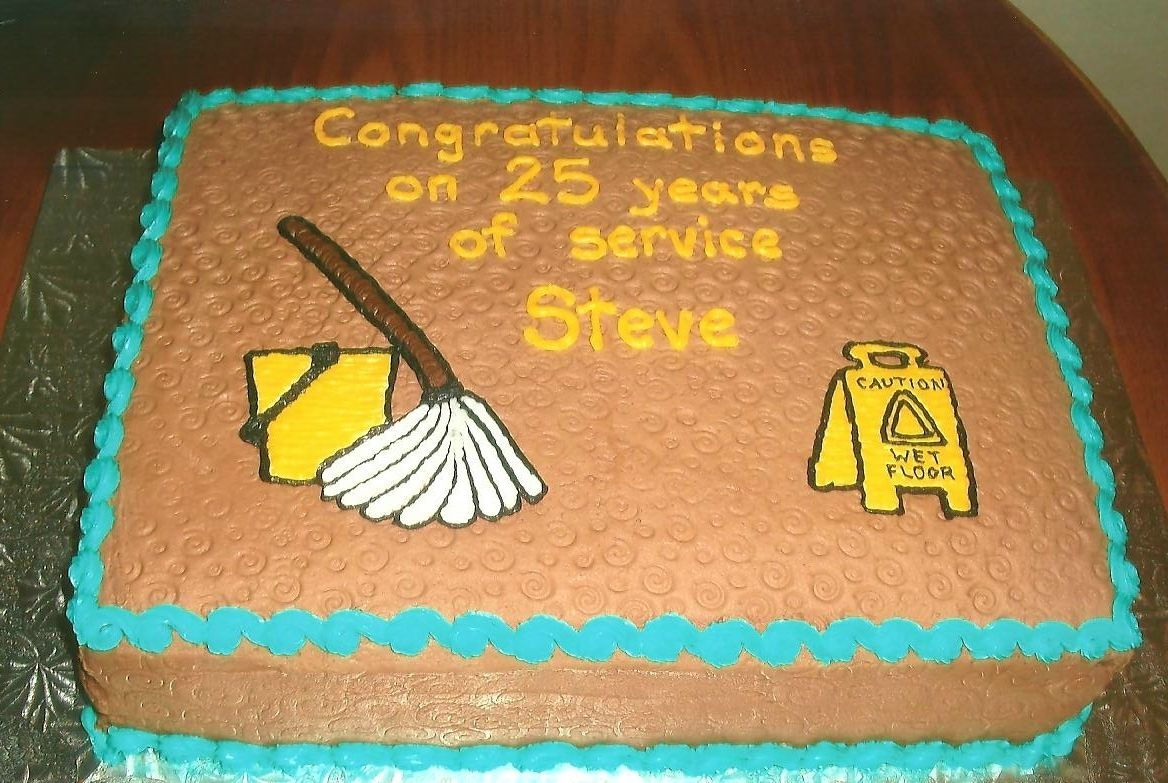Retirement Cake For Janitor