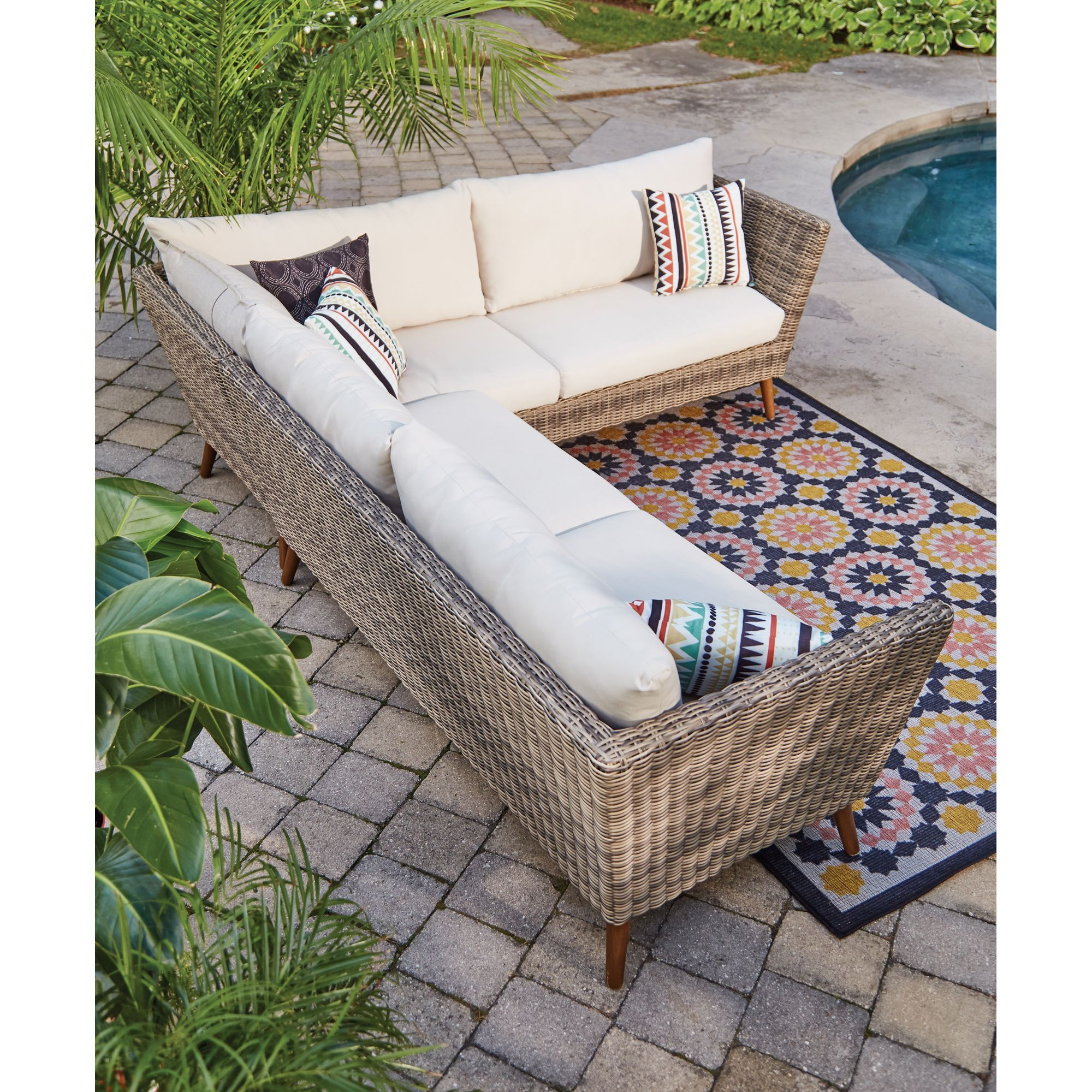 Canadian Tire Outdoor sectional sofa, Outdoor sofa, Home
