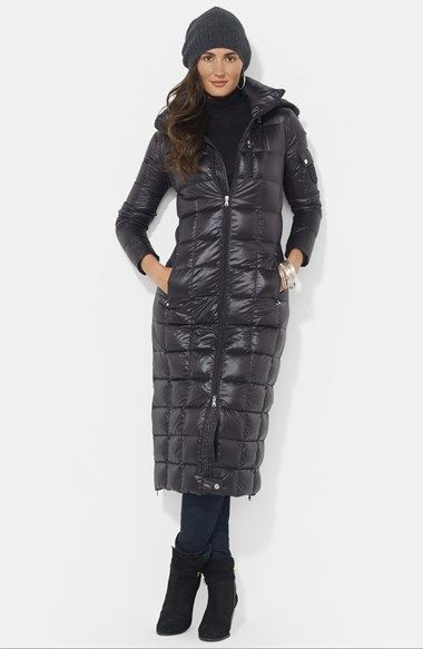 ae8f71679d52 Lauren Ralph Lauren Packable Down Maxi Coat with Detachable Hood (Online  Only) available at  Nordstrom