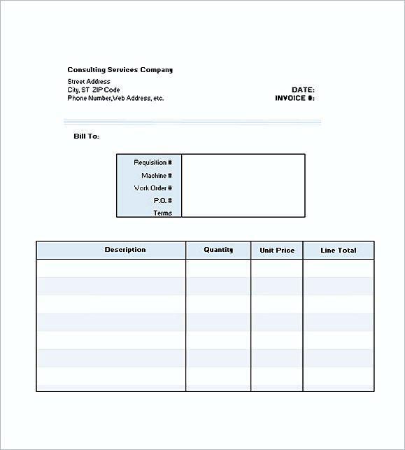 Consultant Invoice Templates Excel Consultant Invoice Template