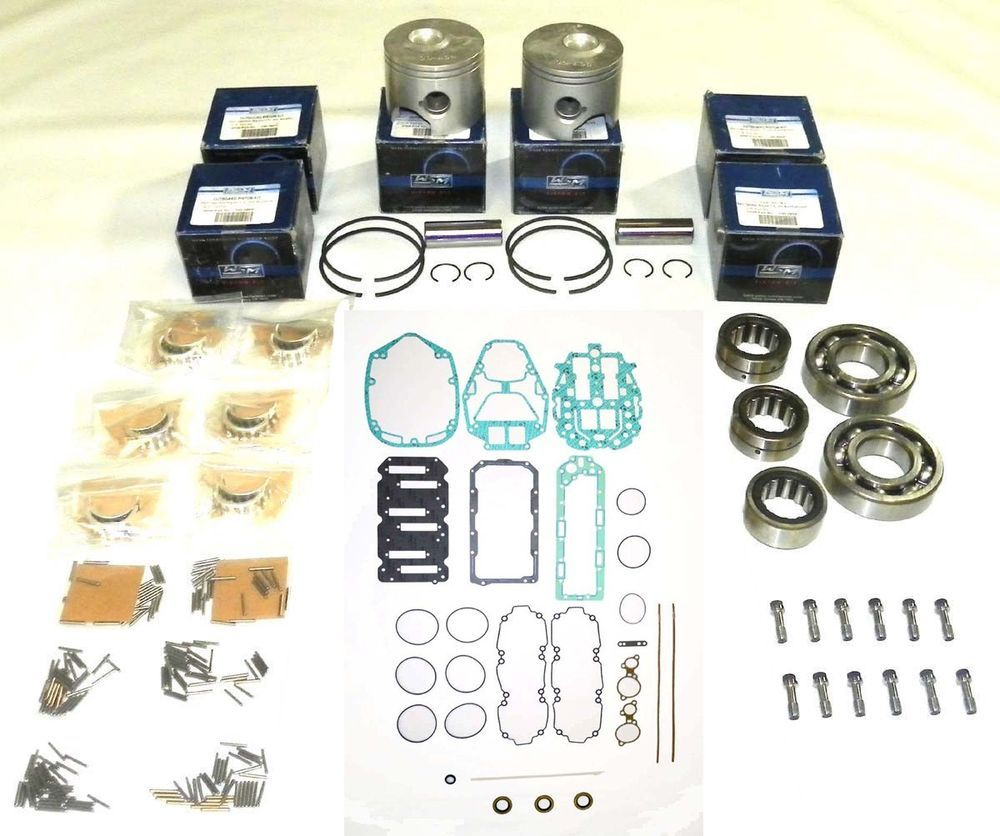 New Johnson//Evinrude 150-175 HP 60º Carbureted 6 Cylinder Powerhead Rebuild Kit