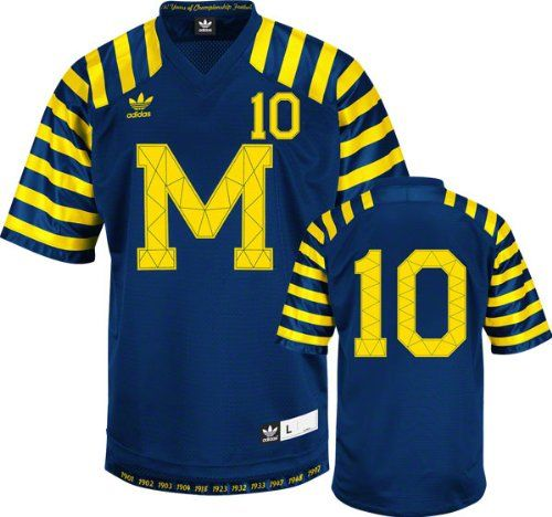 info for 82010 0bc87 Michigan Wolverines Navy Adidas #10 Throwback Premier Jersey ...