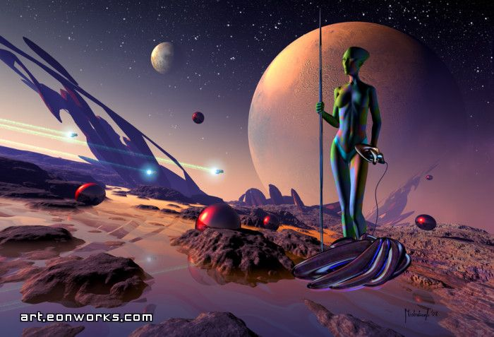 Alien planet art | Aliens Planet Art | Science fiction art ...