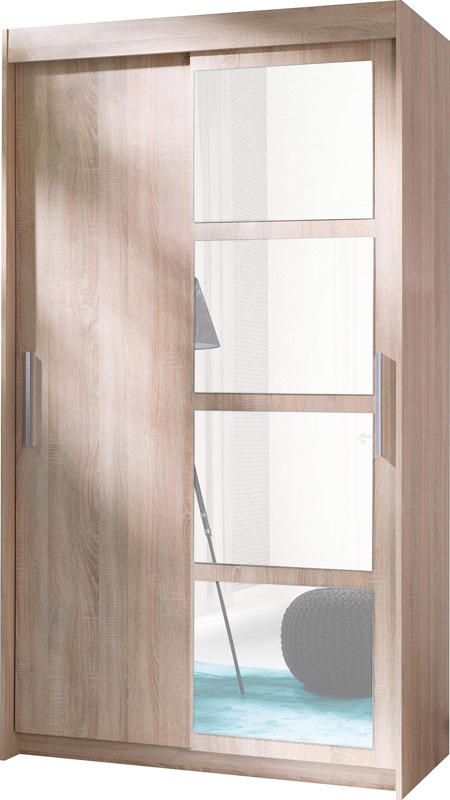 armoire 2 portes coulissantes avec miroir  nero  largeur