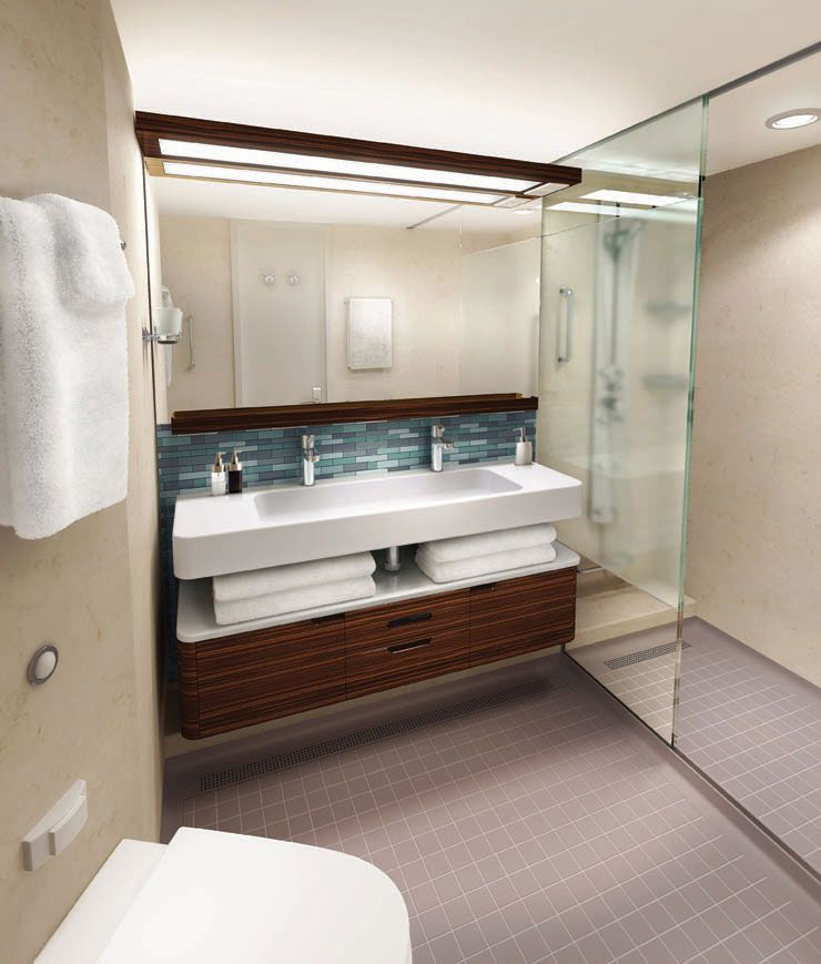 This Bathroom Works Too Love The Roomy Shower In The Mini