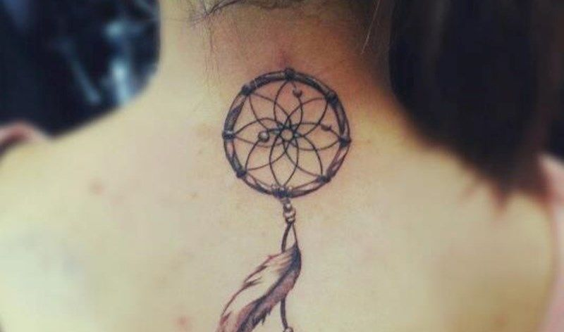 Dreamcatcher Neck Tattoo Credit Chronic Ink Tattoo Shop Toronto Beauteous Dream Catcher Toronto