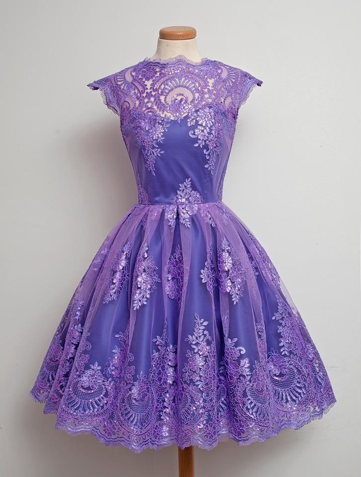 1950\'s Lilac lace Dress | Vintage Clothing | Pinterest | Vestiditos ...