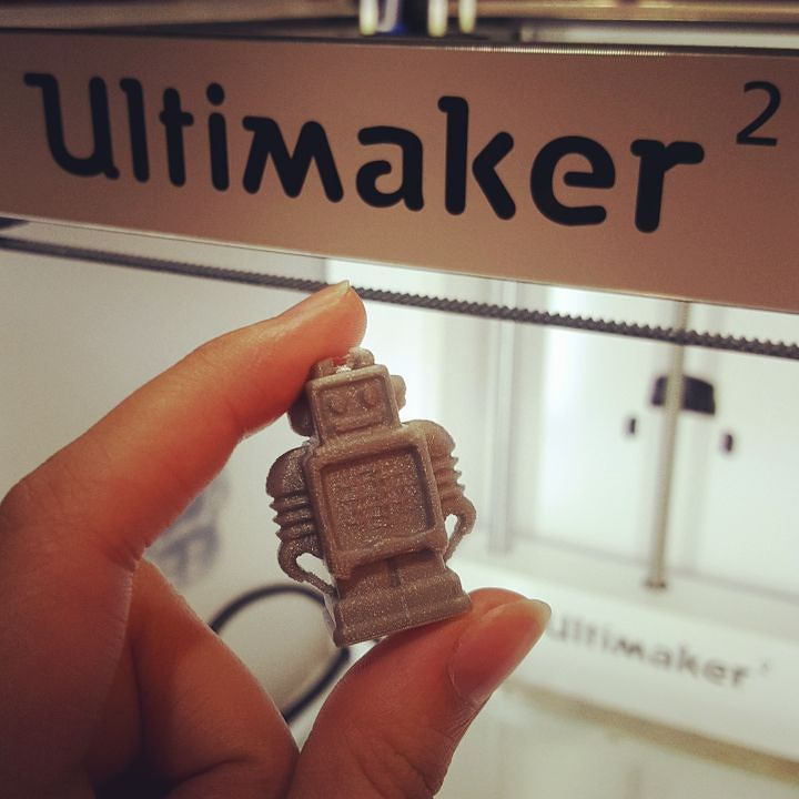 Something we liked from Instagram! Success!  #ultimaker #ultimaker2 #3dprint #3dprinter #3dprinting #robot #ultimakerrobot by bennilex check us out: http://bit.ly/1KyLetq