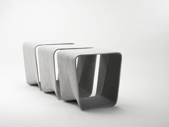 Eternit Stools And Tables By Nicolas Le Moigne. Concrete StoolConcrete  FurnitureFurniture ...