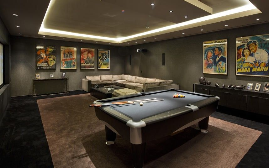 A proper man cave games room ideas think basement for Indoor game room ideas