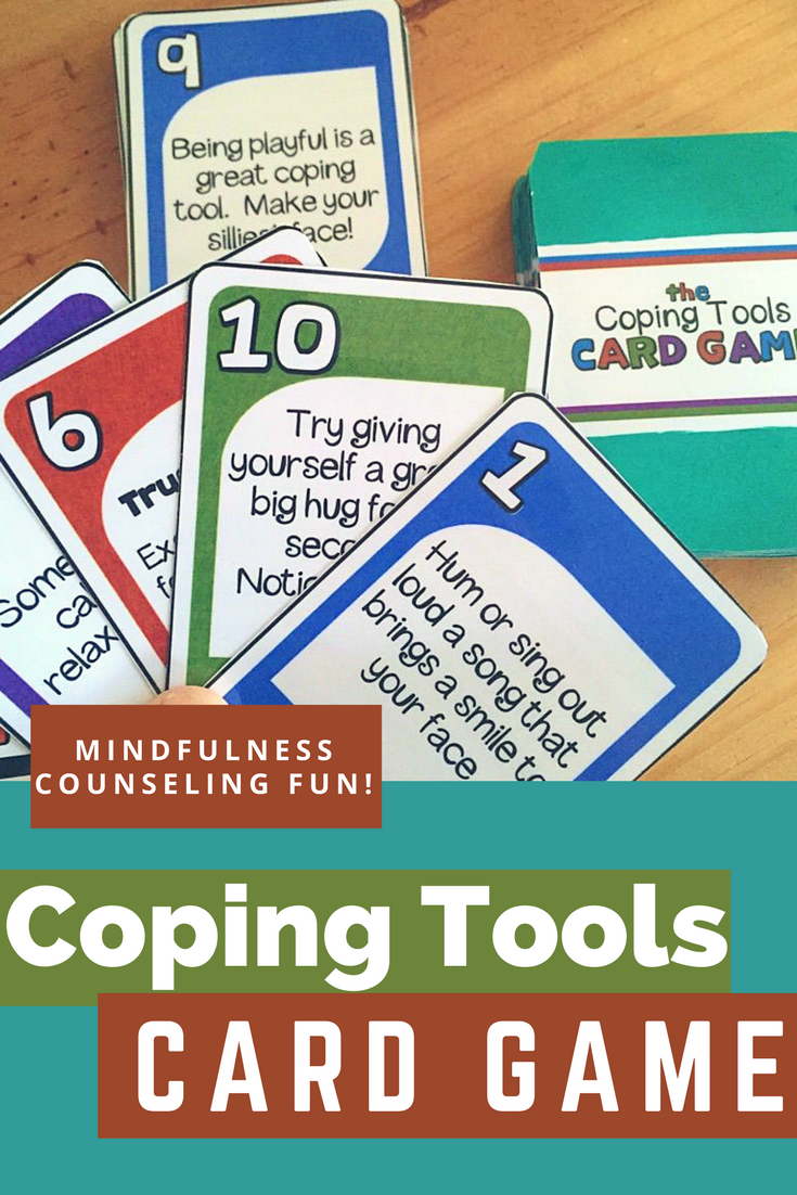 Fun Coping Skills Card Game Great For Play Therapy And School Counseling Coping Skills School Counseling Lessons Mindfulness For Kids