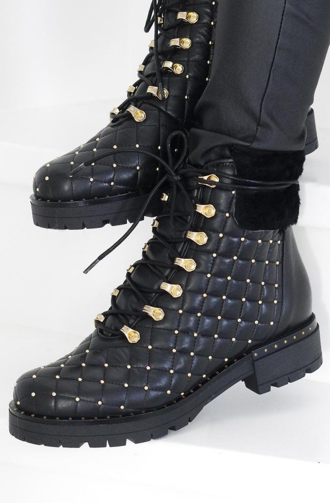 LESTROSA Quiltade boots med Nitar F25 Plain Vanilla AB i