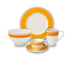 #orange #sunset dinnerware | Anmut My Colour