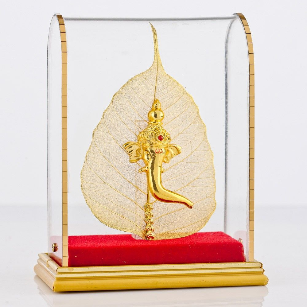 Ganesha\'s Face on Pipal - Encased Return Gift for Wedding - Wedding ...