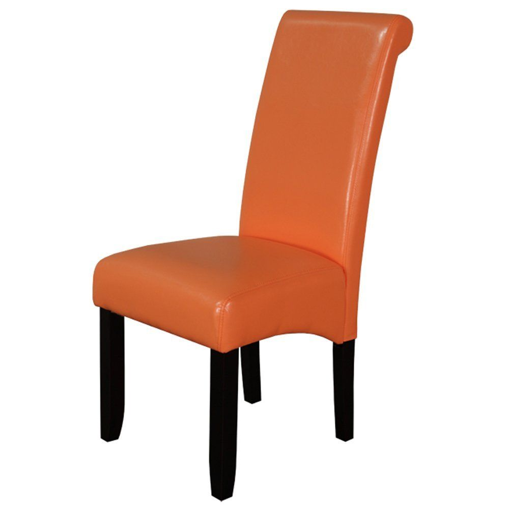 Orange Leather Dining Chairs Leather Dining Chairs Faux Leather