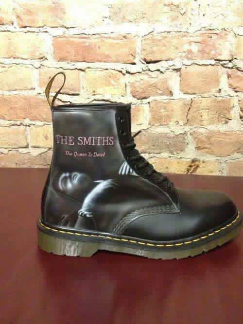 d638cef37cac The Smiths - The Queen is Dead on Doc Martens leather boots   The ...