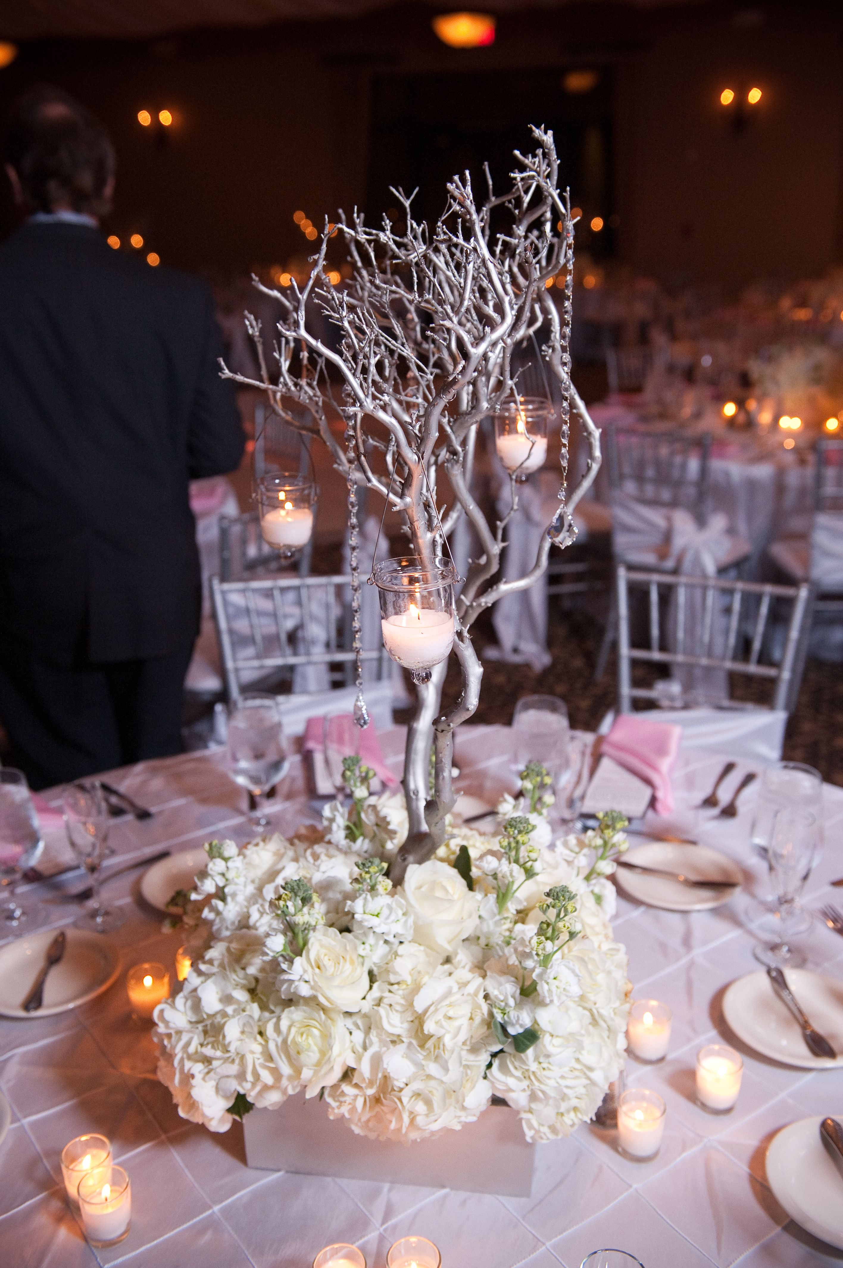 Because Silver Manzanita Branches And Winter Weddings Go Together