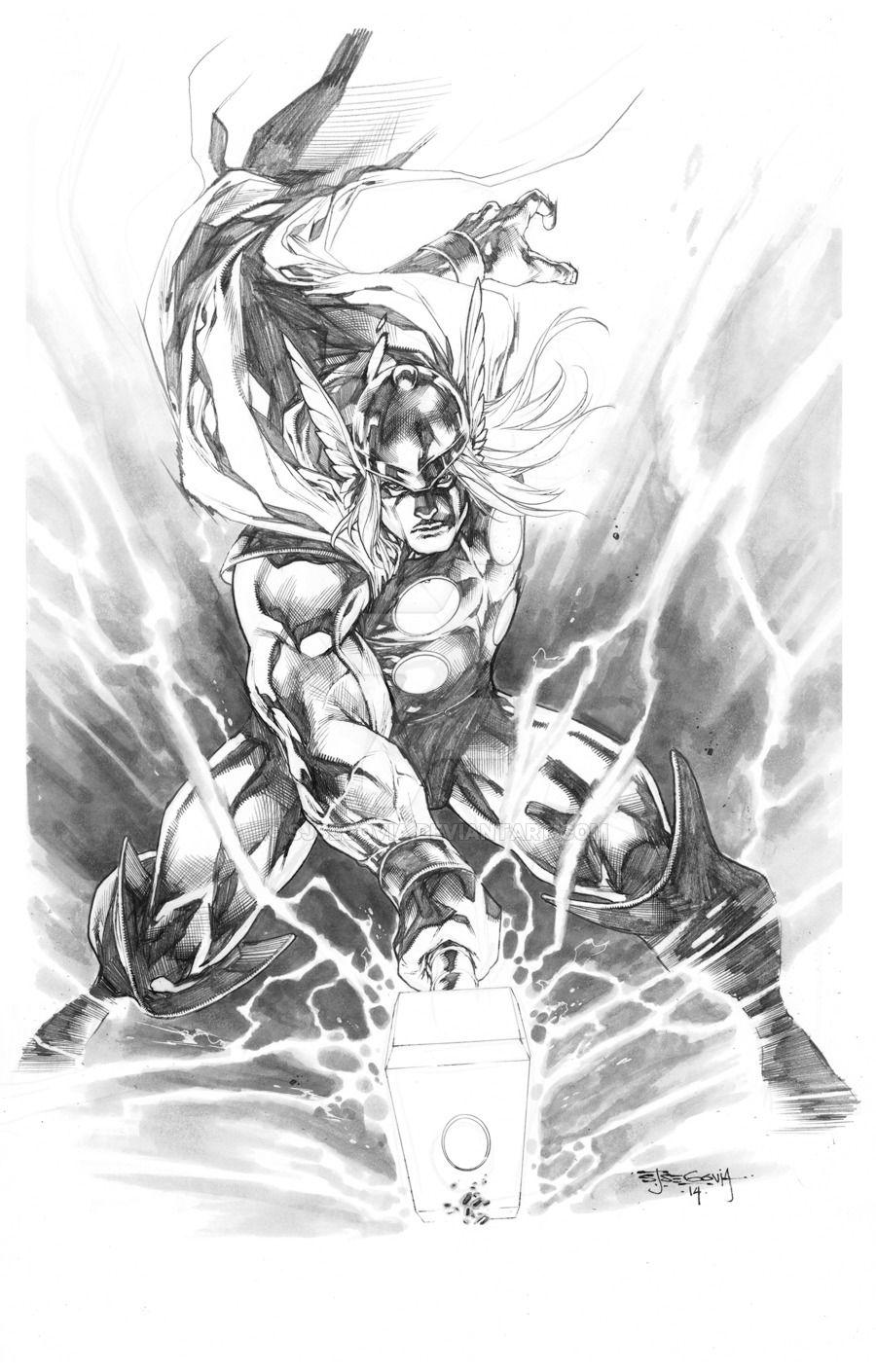 Resultado De Imagen Para Thor Illustration Marvel 토르 만화 Y