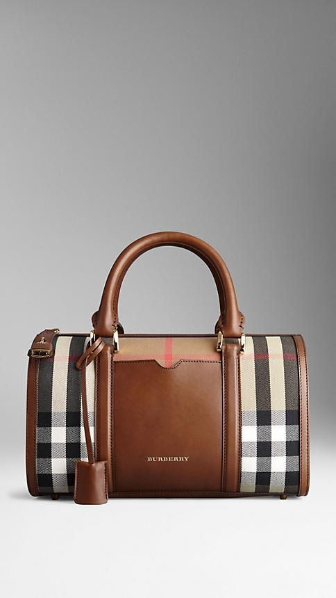 Medium Sartorial House Check Bowling Bag Burberry
