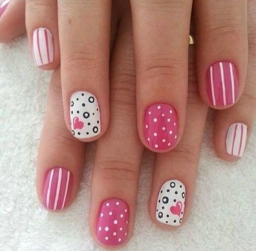 Beautiful Short Pink Nails Nails Pinterest Short Pink Nails