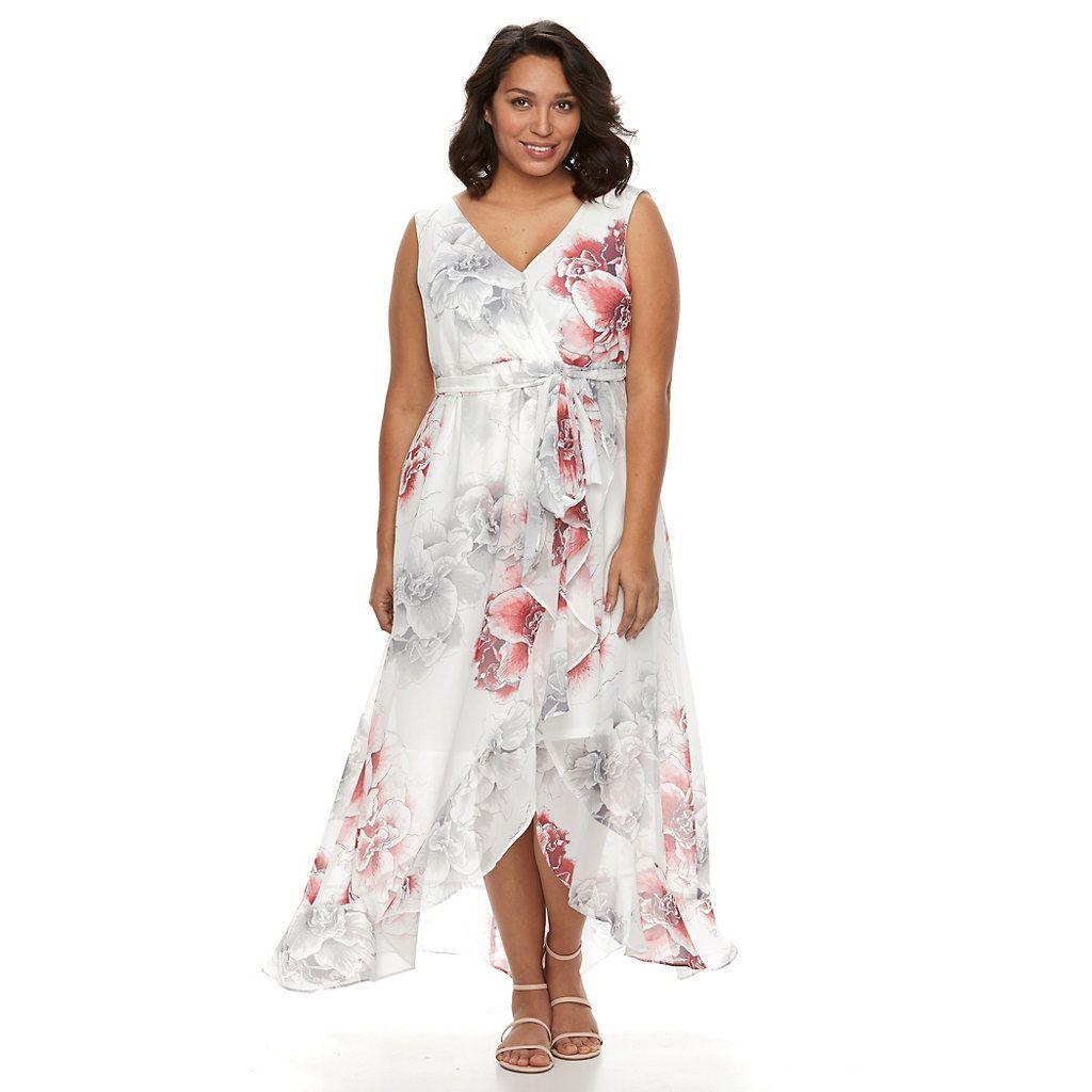 Plus Size Chaya Floral Faux Wrap Maxi Dress Kohls Dresses Maxi Wrap Dress Bridesmaid Dresses Plus Size [ 1024 x 1024 Pixel ]