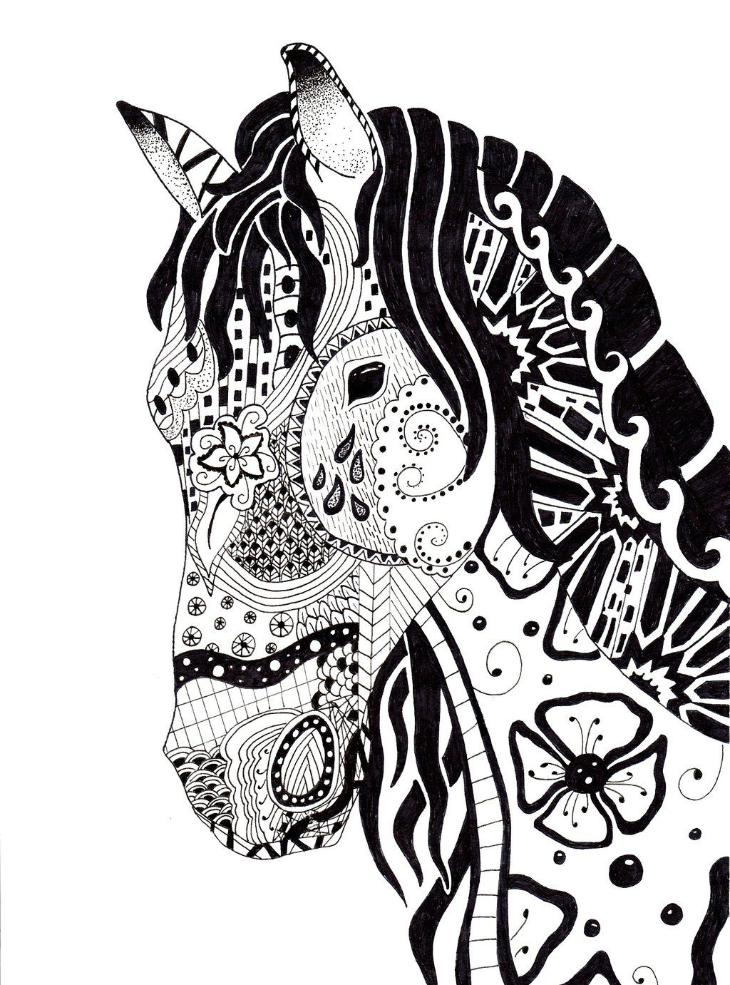 The Horse by scomodo.deviantart.com on @deviantART | coloring pages ...