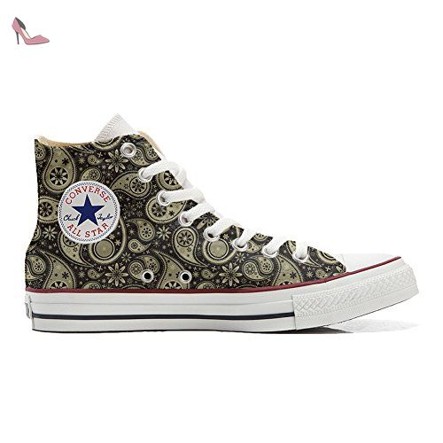 Make Your Shoes Converse Customized Adulte - chaussures coutume (produit artisanal) Indian Paisley size 43 EU duUNmJlgU