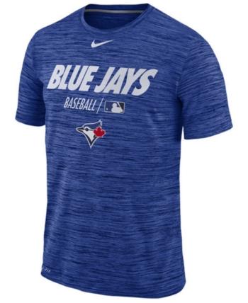 the best attitude 1f21a 2746a Nike Men s Toronto Blue Jays Velocity Team Issue T-Shirt - Blue XXL