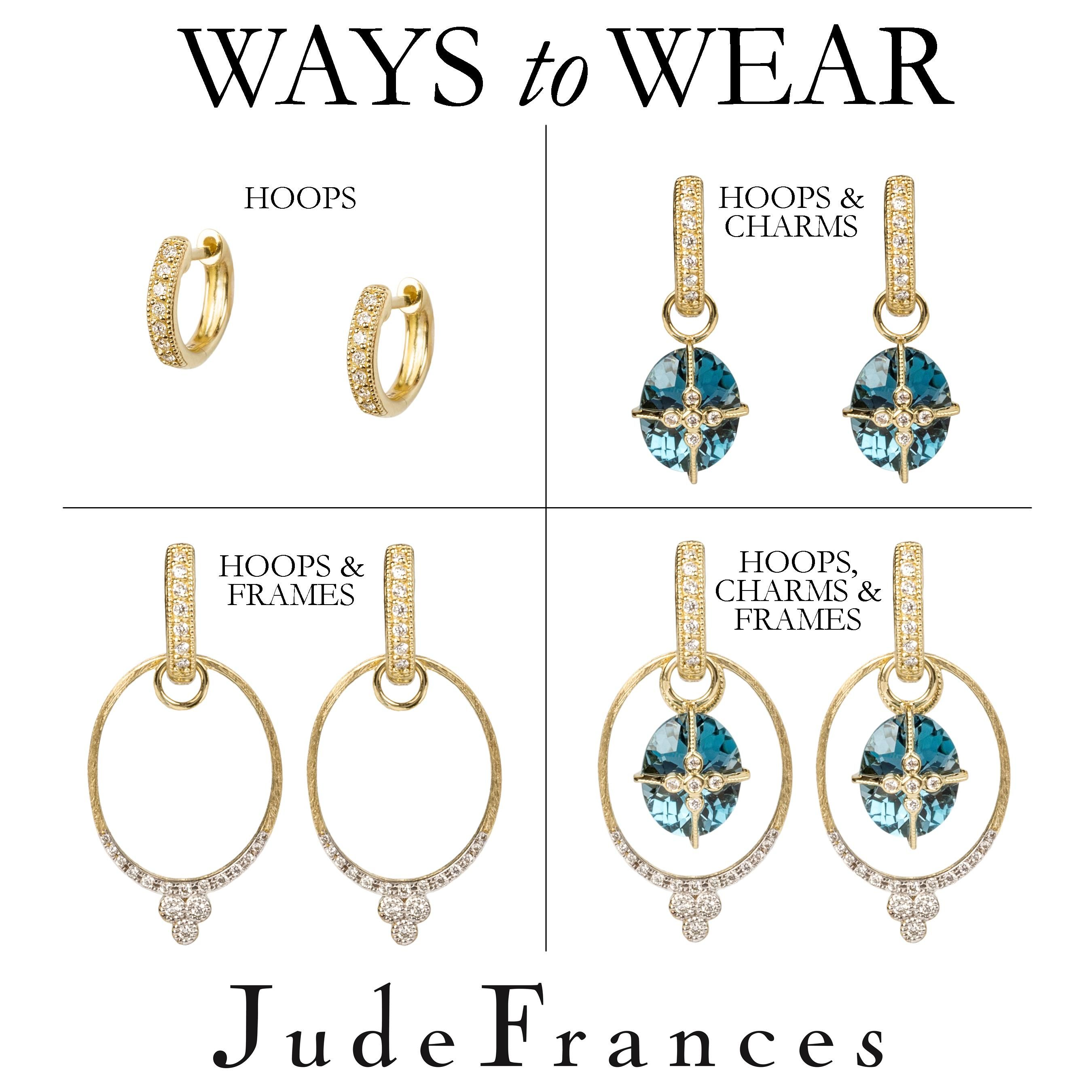 Jude Frances now has frames to go with your hoops and charms. So ...