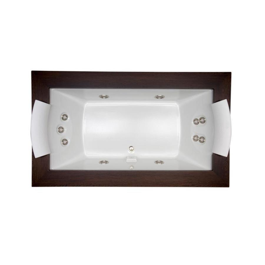 Jacuzzi Fuzion 2-Person White Acrylic Rectangular Whirlpool Tub ...