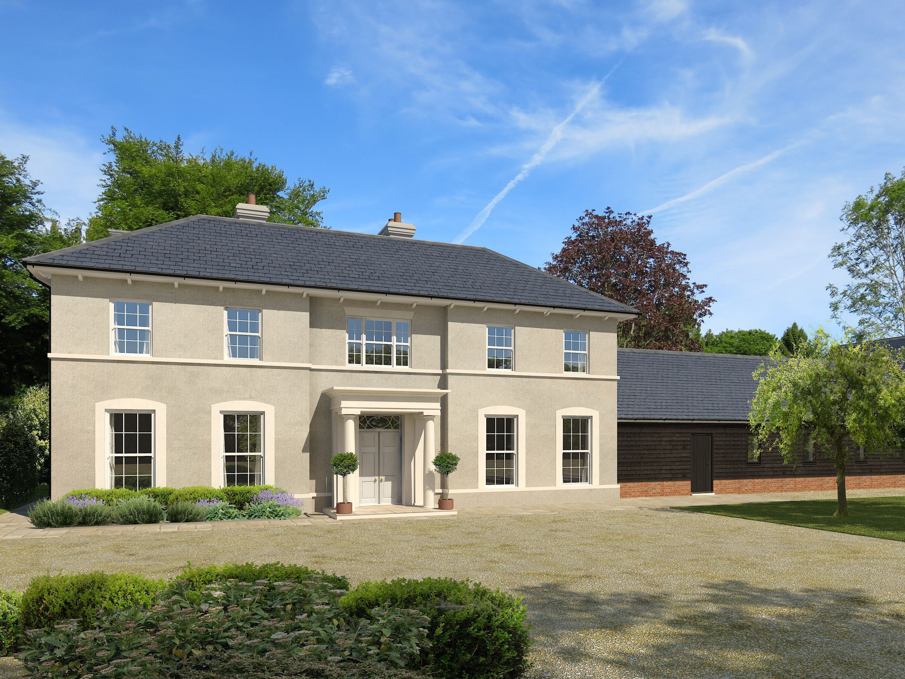 Replacement Dwelling Nr Kingsclere Hampshire Georgian Homes Architecture House Exterior