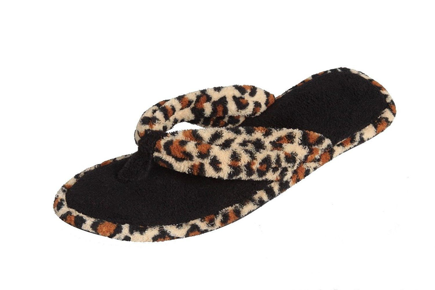 bcb80910025 Fuzzy Two Tone Plush Terry Flip-flop House Slippers for Women   Read more  reviews of the product by visiting the link on the image.