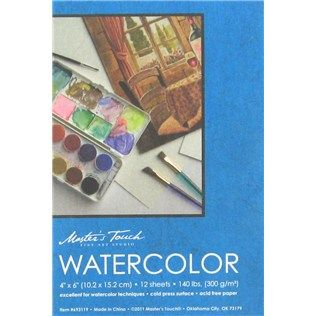 Master S Touch 4 X 6 Watercolor Pad Shop Hobby Lobby Paper
