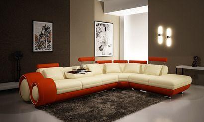 Vig Furniture Divani Casa 4086 Modern Leather Sectional Sofa