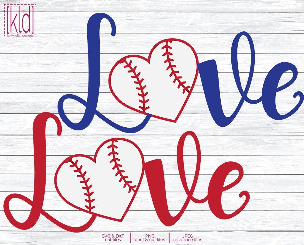 Baseball Heart Svg Softball Heart Svg Love Baseball Svg Love Softball Svg Baseball Mom Svg Baseball Hear Softball Svg Softball Svg Files Baseball Svg
