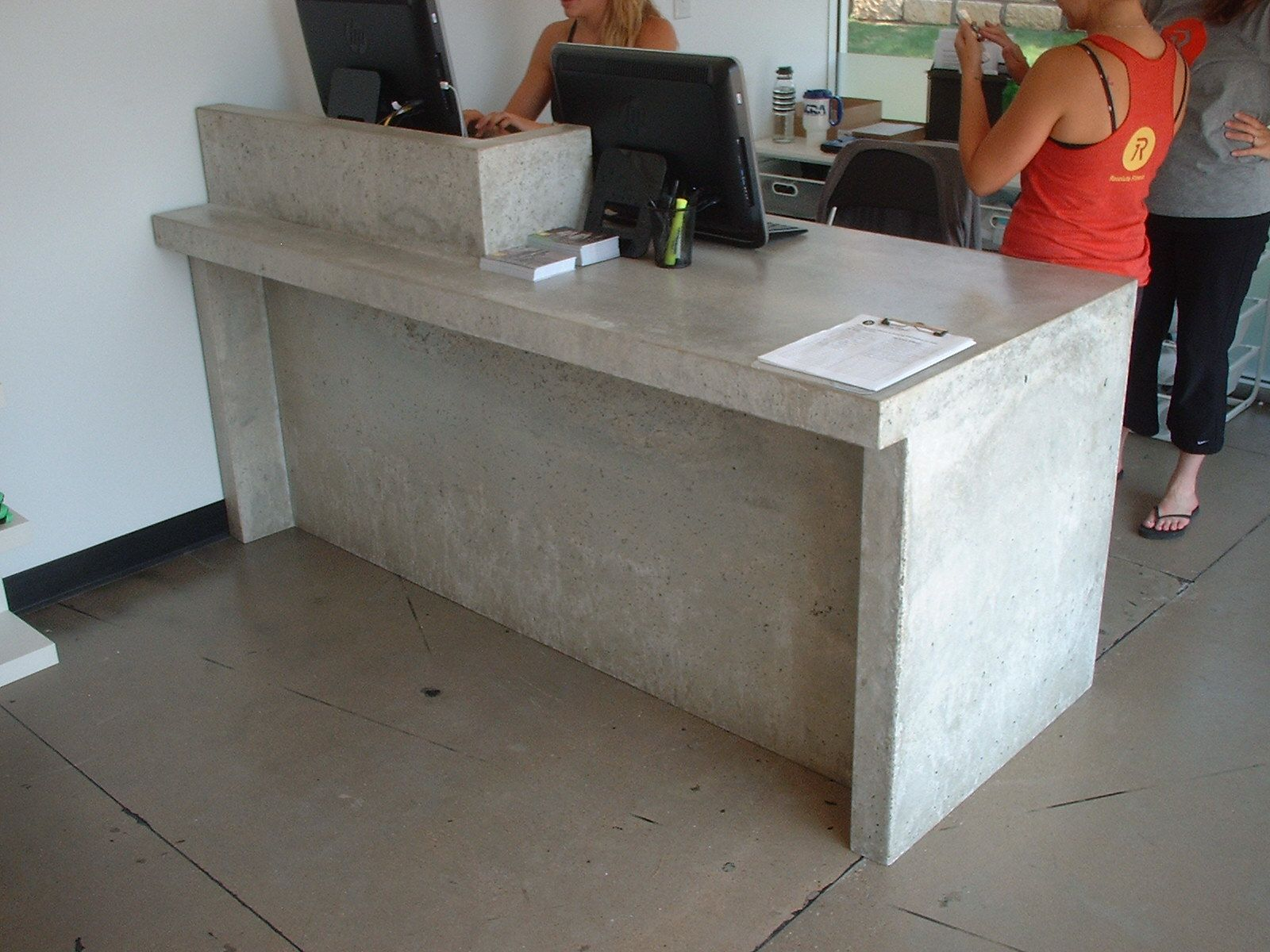 Reception Desks Desk Ideas Salon Receptions Concrete Cement Himalayan Cat Wedding